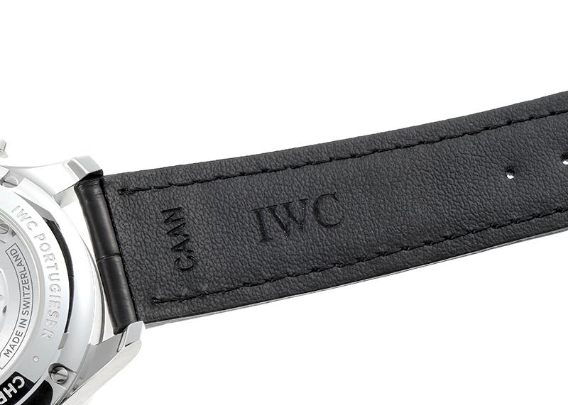 IWC IW371604 ポルトギーゼ クロノグラフ SS シルバー文字盤/RG針 自動巻き レザー