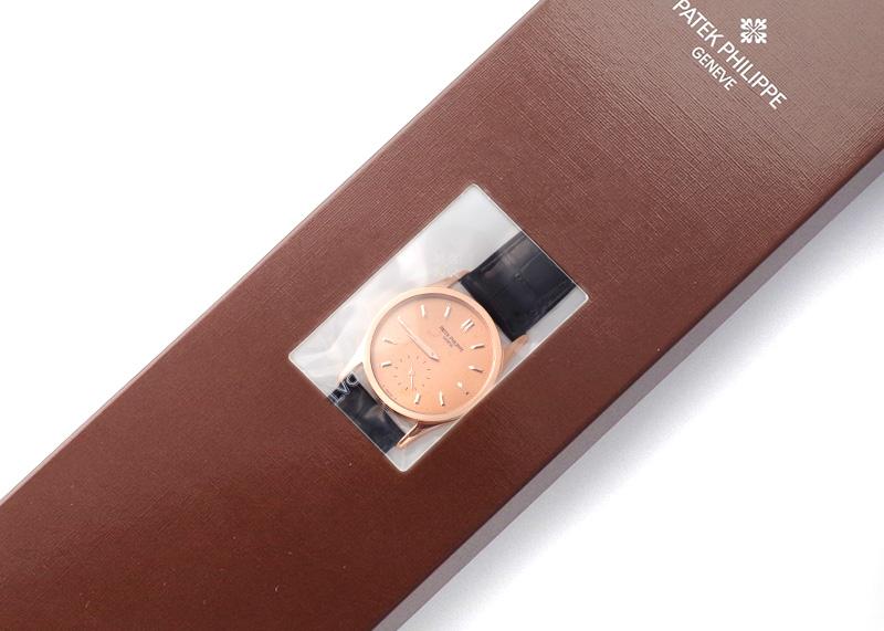【レストア】パテックフィリップ 3796R-001 カラトラバ RG ローズゴールド文字盤 手巻き レザー