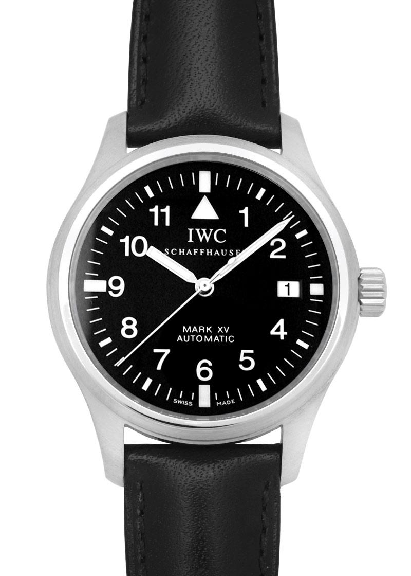【中古】IWC IW325301 マークXV SS 黒文字盤 自動巻き レザー