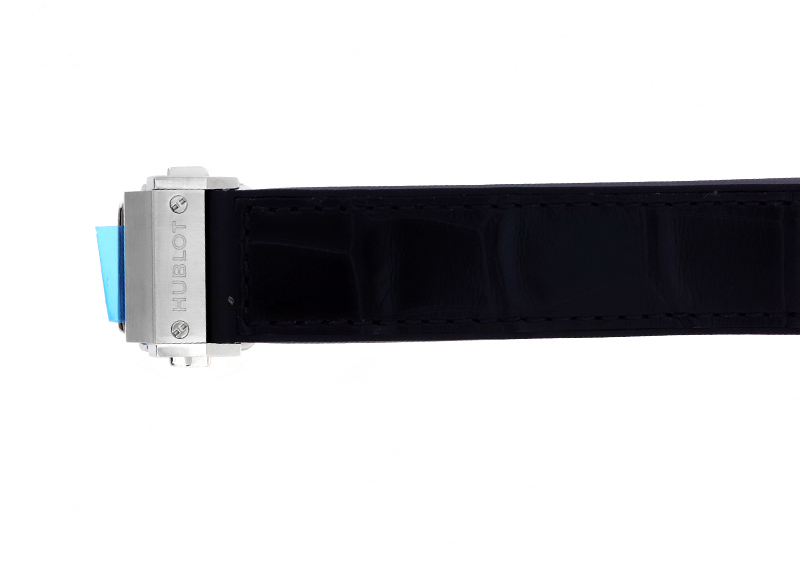 ウブロ 565.NX.1470.LR.1204 クラシックフュージョン ベゼルダイヤ TI 黒文字盤 自動巻き ラバーアリゲーター