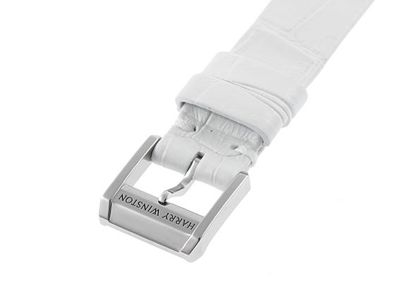 ハリーウィンストン MIDAHM29WW001 レディース ミッドナイト オートマティック WG 白シェル文字盤 自動巻き レザー