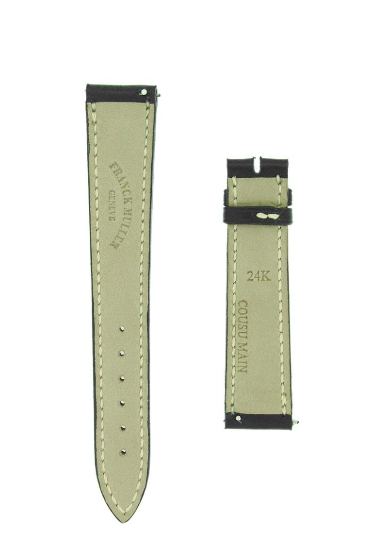 フランクミュラー レザーストラップ 7500用 カーフ ブラック 16-14mm