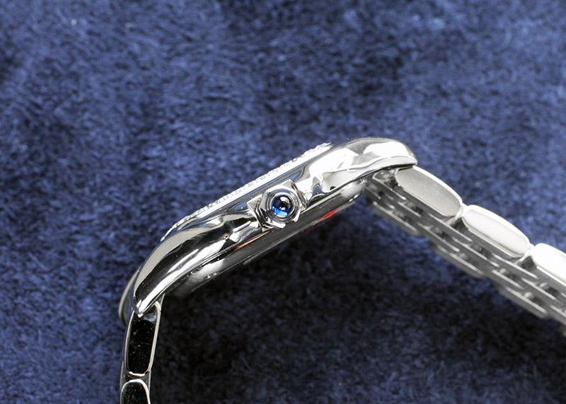 カルティエ W4PN0007 レディース パンテール ドゥ カルティエ ダイヤベゼル SM SS シルバー文字盤 クォーツ ブレスレット