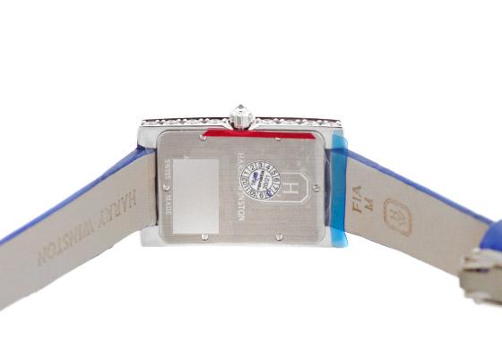 ハリーウィンストン AVEQHM21WW292 アヴェニュー・クラシック オーロラ WG シェル/ダイヤモンド文字盤 クォーツ レザー