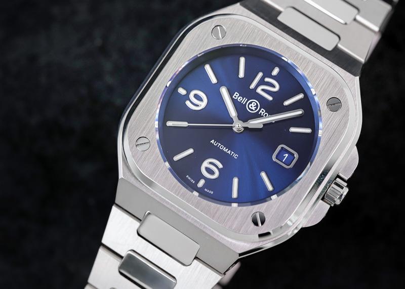 【中古】ベル&ロス BR05 BLUE STEEL BR05A-BLU-ST/SST SS ブルー文字盤 自動巻き ブレスレット