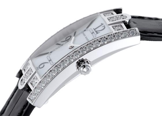 ハリーウィンストン AVCQHM19WW018 レディース アヴェニューC ダイヤモンドベゼル WG 白シェル文字盤 クォーツ レザー