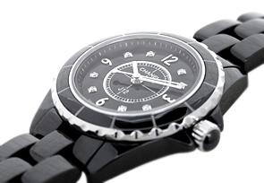 【お取り寄せ可能】シャネル H2569 レディース J12 29mm 黒セラミック 黒文字盤/8Pダイヤモンド クォーツ ブレスレット