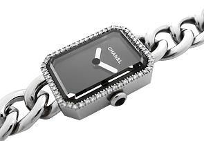 シャネル H3252 レディース プルミエール ダイヤモンドベゼル SS 黒文字盤 クォーツ ブレスレット