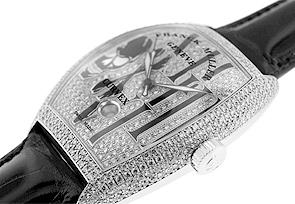 フランクミュラー 8880SCDT GOTH DCD トノーカーベックス ゴシック・アロンジェ ダイヤモンド WG ダイヤモンド文字盤 自動巻き レザー
