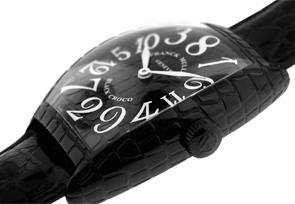 フランクミュラー 8880CH BLK CRO トノーカーベックス ブラッククロコ クレイジーアワーズ SS(PVD) 黒文字盤 自動巻き レザー