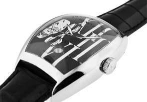 フランクミュラー 8880SCDT GOTH トノーカーベックス ゴシック・アロンジェ SS 黒文字盤 自動巻き レザー