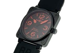 ベル&ロス BR01-92 RED ブラックコーティング 46mm PVD(SS) 黒文字盤 レザー 500本限定