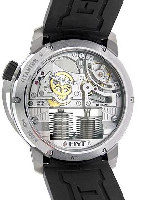 HYT 148-TT-11-GF H1 チタニウム TI スケルトン文字盤 手巻き ラバー