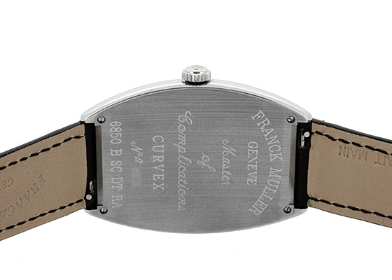 フランクミュラー 6850BSCDTRA トノーカーベックス プラチナローター SS 黒文字盤 自動巻き レザー