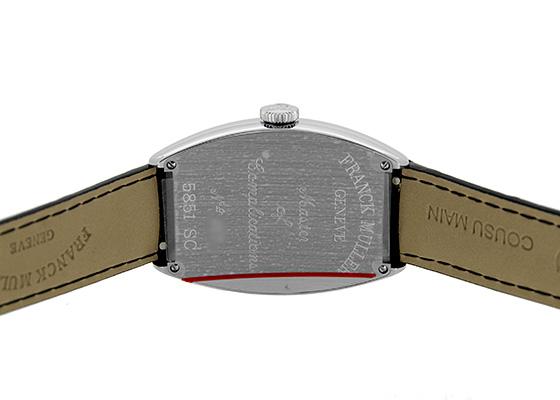 フランクミュラー 5851SC トノーカーベックス SS シルバー文字盤 自動巻き レザー