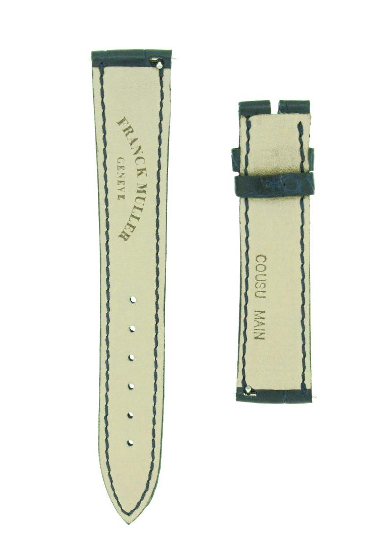 フランクミュラー レザーストラップ 7500用 クロコダイル ネイビー(艶無) 16-14mm