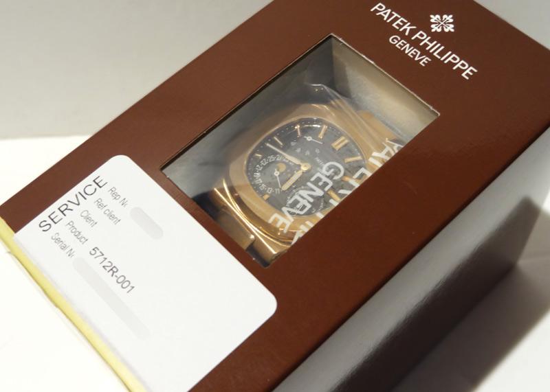 【レストア】パテックフィリップ 5712R-001 ノーチラス プチコンプリケーション RG ダークブラウン文字盤 自動巻き レザー