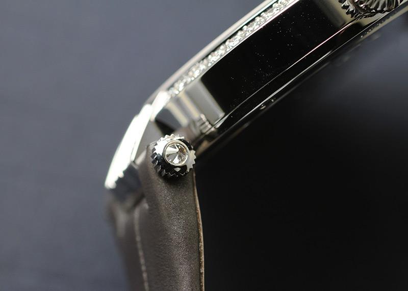ハリーウィンストン PRNQHM31WW001 レディース プルミエール ベゼルダイヤモンド 18KWG シェル文字盤 クォーツ レザー