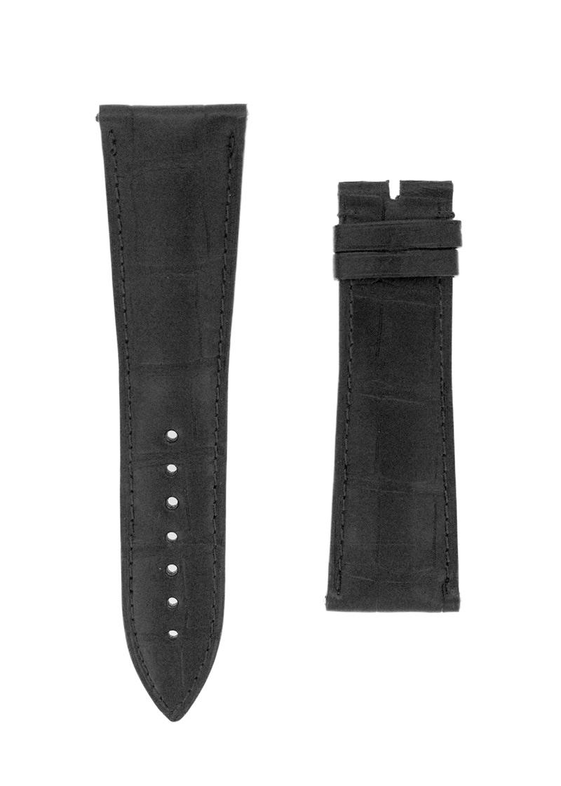 フランクミュラー レザーストラップ  コルテス 10000H用 クロコダイル ブラック(艶無) 27-21mm