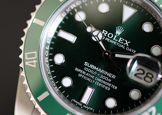 【未使用品】ロレックス 116610LV オイスターパーペチュアル サブマリーナデイト SS グリーン文字盤 自動巻き ブレスレット