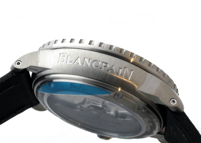 ブランパン 5015-12B30-B52A フィフティー ファゾムス オートマティック TI 黒文字盤 自動巻き セイルキャンバス