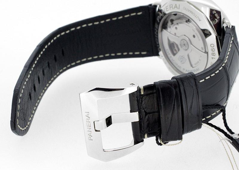 【未使用品】オフィチーネ パネライ PAM00388 ラジオミール 3デイズ オートマティック SS 黒文字盤 自動巻き レザー【生産終了品】