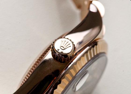 ロレックス 279175G レディース オイスターパーペチュアル デイトジャスト RG パープル文字盤 自動巻き ブレスレット