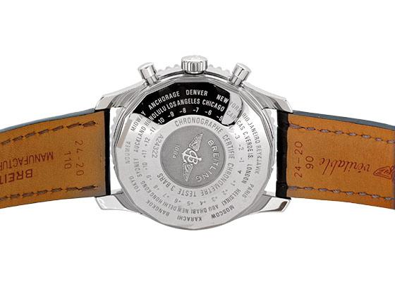 【中古】【正規品】ブライトリング A24322 ナビタイマー ワールド SS 黒文字盤 自動巻き レザー
