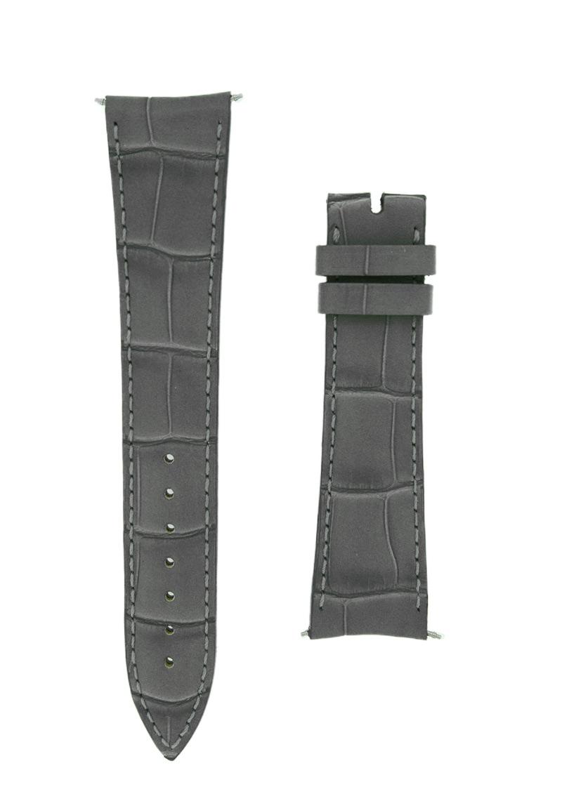 フランクミュラー レザーストラップ  7000用 クロコダイル グレー(艶無) 20-16mm