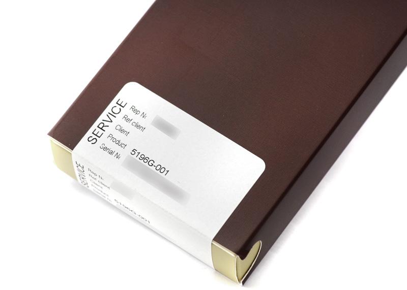 【レストア】パテックフィリップ 5196G-001 カラトラバ WG シルバー文字盤 手巻き レザー