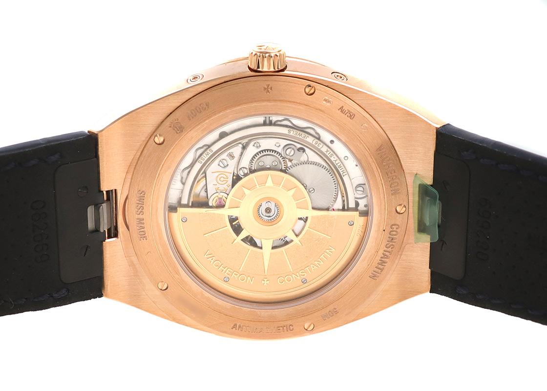 ヴァシュロンコンスタンタン 4300V/000R-B509 オーヴァーシーズ エクストラフラット パーペチュアルカレンダー PG ブルー文字盤 自動巻き レザー