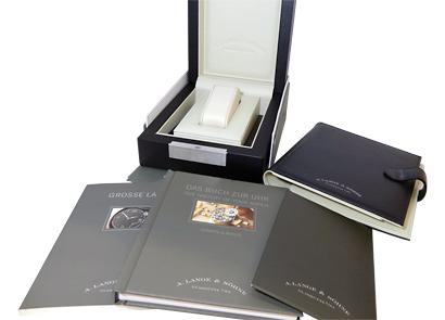 【中古】 A.ランゲ&ゾーネ 115.032 グランド ランゲ1 PG シルバー文字盤 手巻き レザー