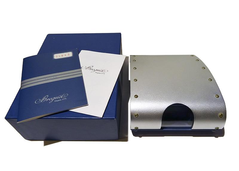 【中古】ブレゲ 3807ST/J2/SW9 アエロナバル 1000本限定 SS ブルー文字盤 自動巻き ブレスレット【委託品】