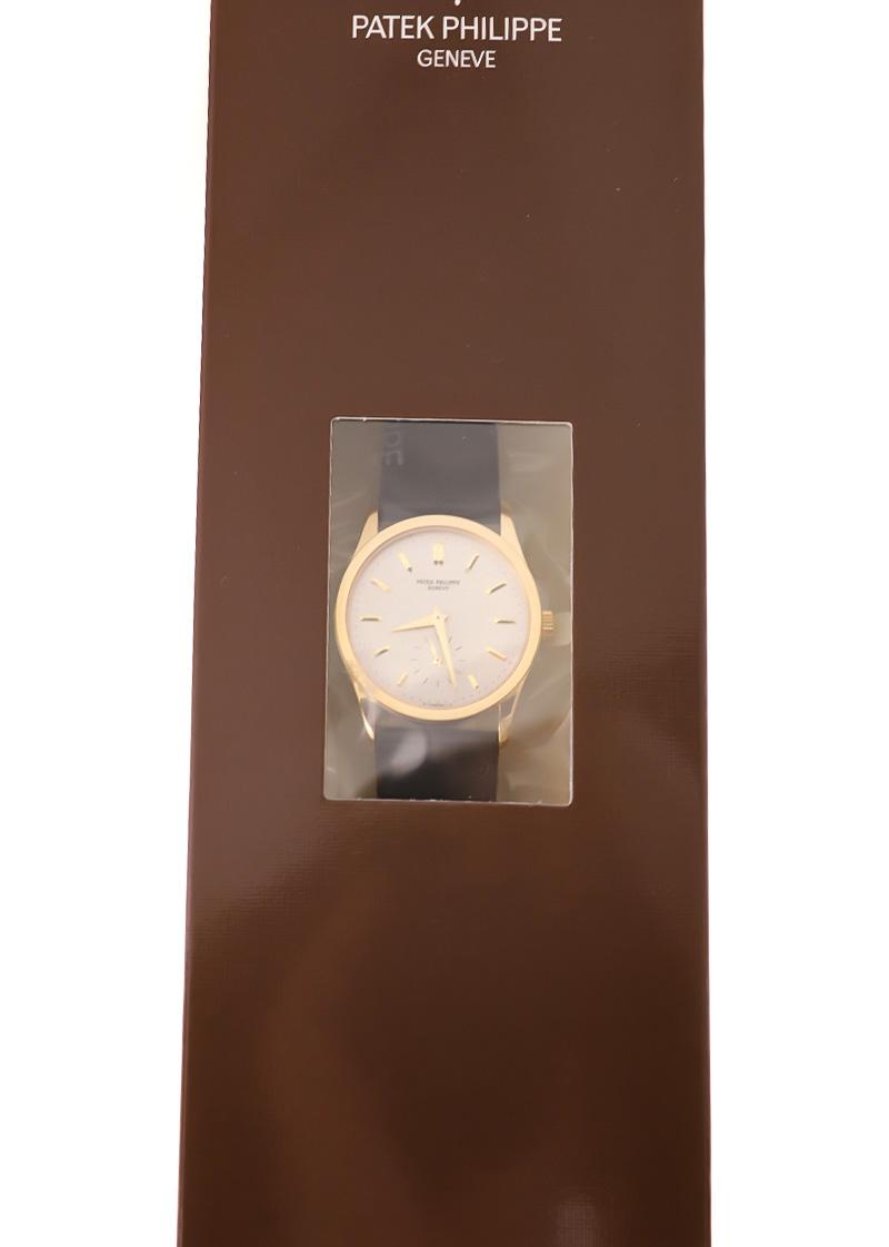 【レストア】パテックフィリップ 3796J-001 カラトラバ YG シルバー文字盤 手巻き レザー【1985年製】