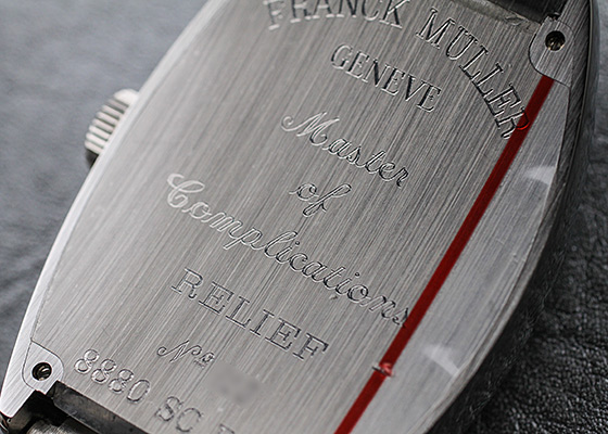 フランクミュラー 8880SC RELIEF トノーカーベックス レリーフ SS シルバー文字盤 自動巻き ブレスレット