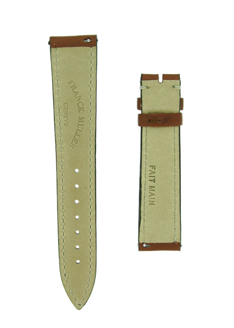 フランクミュラー レザーストラップ 5850用 カーフ ブラウン 18-16mm