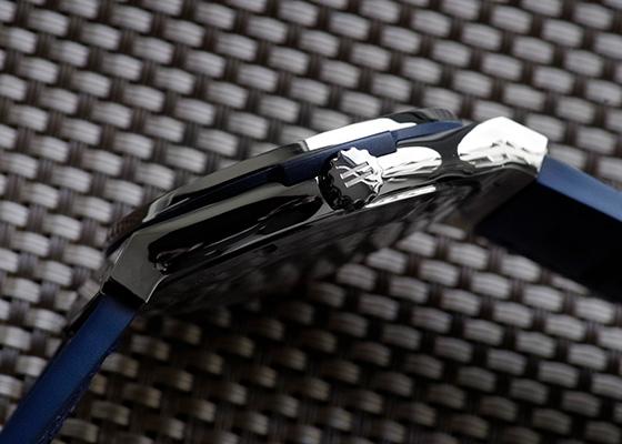 【中古】ウブロ 511.NX.7170.LR クラシックフュージョン チタニウム TI ブルー文字盤 自動巻き ラバーアリゲーター