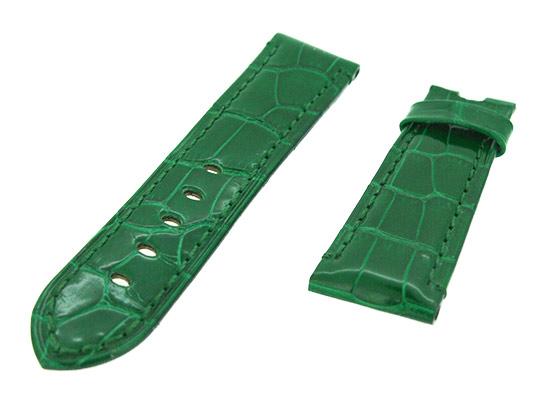 オフィチーネパネライ レザーストラップ ルミノール 40mm用 クロコダイル グリーン(艶有) 22-20mm
