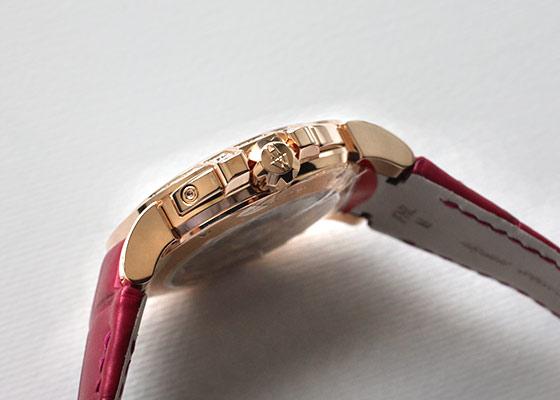 ハリー ウィンストン OCEABI36RR030 レディース オーシャン バイレトロ デイデイト ダイヤモンドベゼル 36mm PG ホワイトシェル文字盤/ダイヤモンド 自動巻き レザー