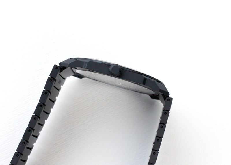 【中古】ブルガリ 103077(BGO40BCCXTAUTO) オクト フィニッシモ オートマティック 黒文字盤 自動巻き ブレスレット