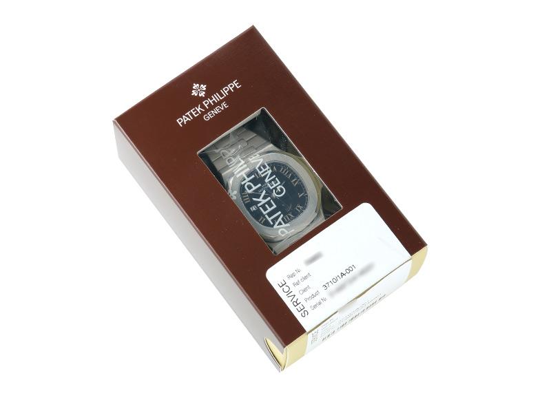 【レストア】パテック フィリップ 3710/1A-001 ノーチラス パワーリザーブ SS 黒文字盤 自動巻き ブレスレット【2002年製】