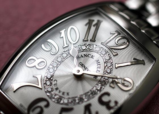 フランクミュラー 1752QZ REL CD1R レディース トノーカーベックス レリーフ ダイヤモンド SS シルバー文字盤 クォーツ ブレスレット