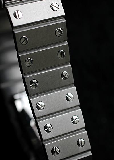 【ヴィンテージ】【1980年代製】カルティエ サントス オクタゴン LM SS 白文字盤 自動巻き ブレスレット