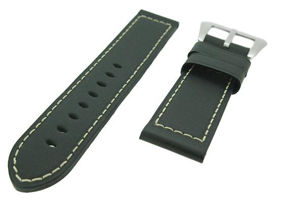 オフィチーネパネライ レザーストラップ ルミノール 44mm用 尾錠付き カーフ ブラック(艶無)  24-23mm