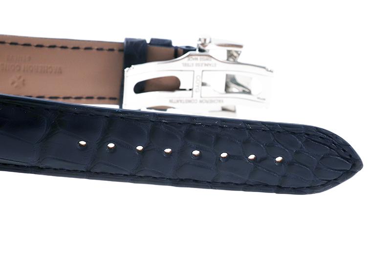 【中古】ヴァシュロンコンスタンタン 4000E/000A-B548 フィフティーシックス コンプリートカレンダー SS ブルー文字盤 自動巻き レザー
