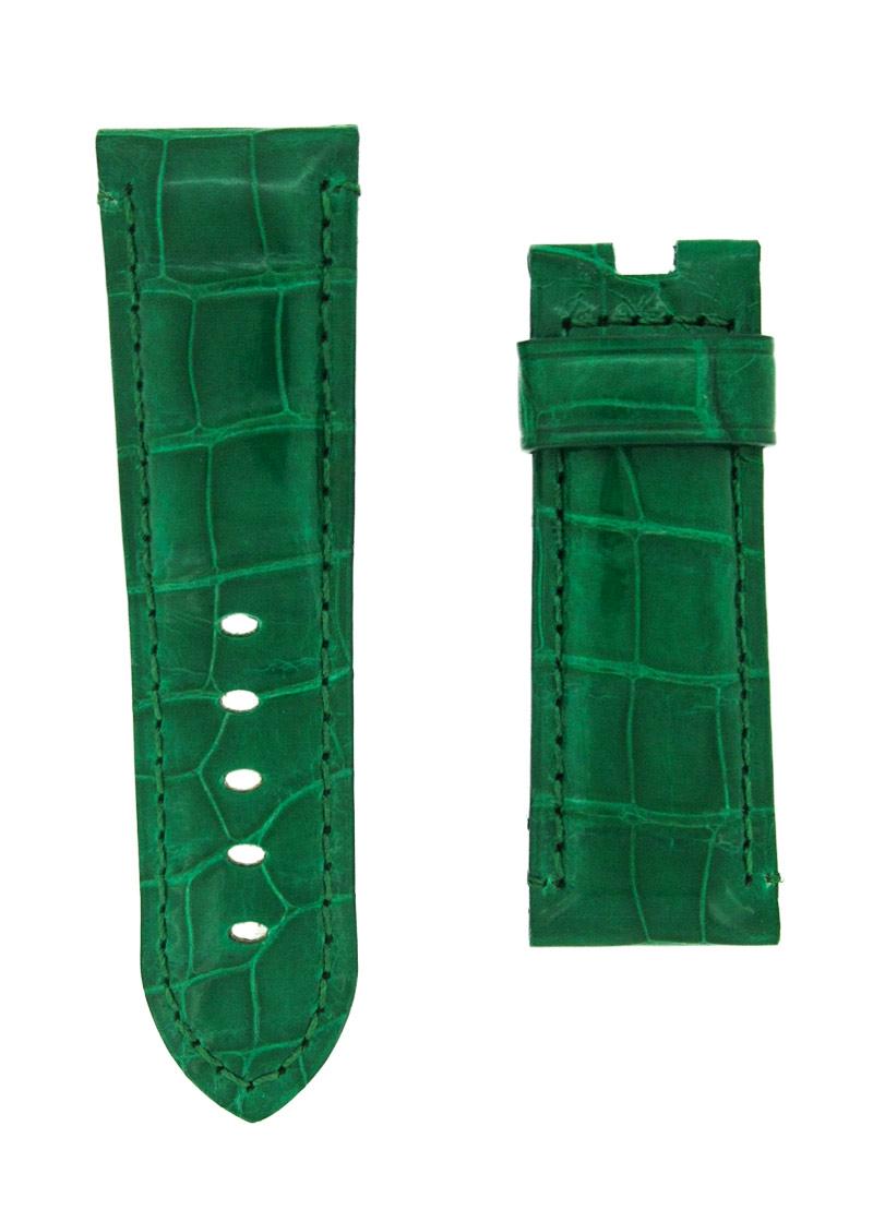 オフィチーネパネライ レザーストラップ ルミノール 44mm用 クロコダイル グリーン(艶有) 24-22mm