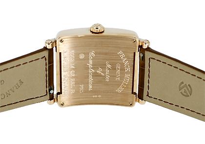 フランクミュラー 6002MQZ RELIEF レディース マスタースクエア レリーフ PG シルバー文字盤 クォーツ レザー