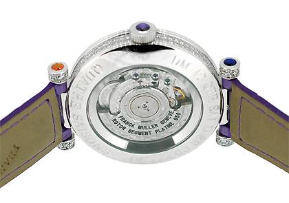 フランクミュラー  DM42 QTR SAI D 3R CD  ダブルミステリー キャトルセゾン WG ダイヤモンド文字盤 自動巻き レザー