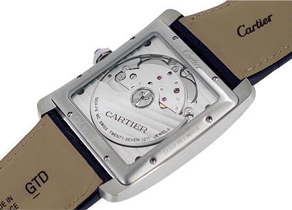 カルティエ W5330004 タンク MC SS 黒文字盤 自動巻き レザー