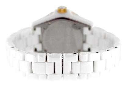 シャネル H2180 J12 PGベゼル 38mm 白セラミック 白文字盤/11Pダイヤモンド クォーツ ブレスレット